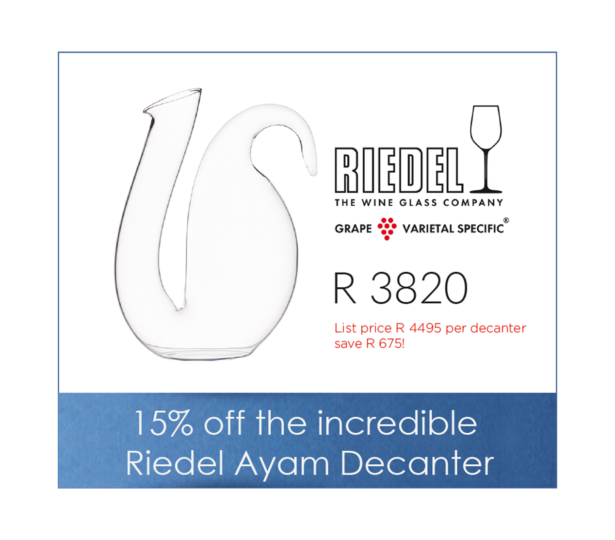 Riedel Ayam Decanter promo
