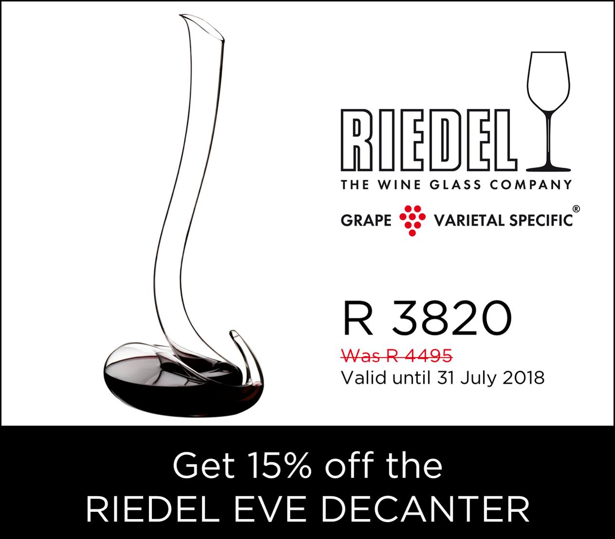 Riedel Eve Decanter promo
